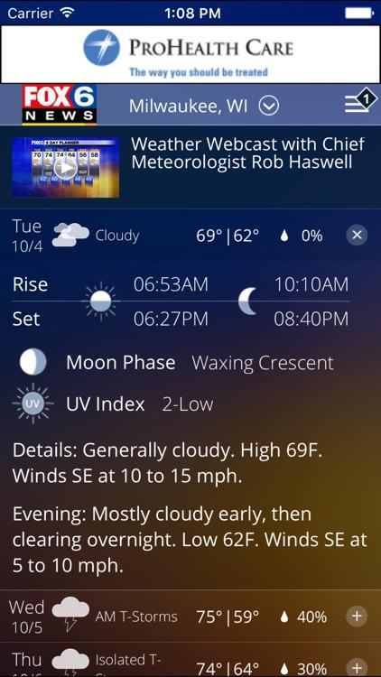 FOX6 Storm Center - Milwaukee Weather screenshot-3