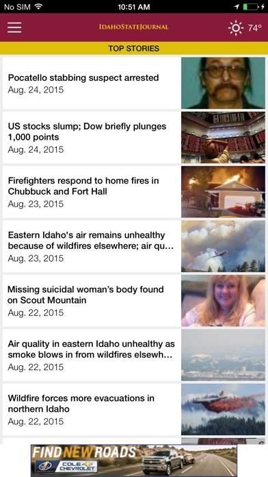 Idaho State Journal Screenshot on iOS