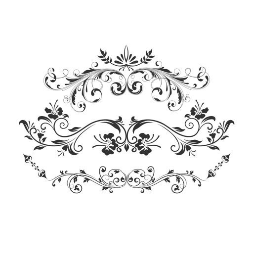 Floral frames & decoration stickers for photos