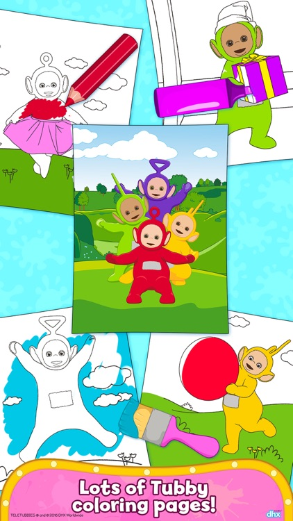 Teletubbies Paint Sparkles - Draw, Color, Have Fun screenshot-4