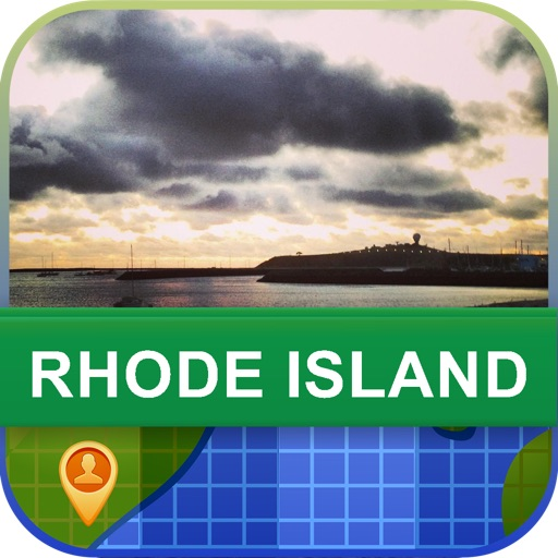 Offline Rhode Island, USA Map - World Offline Maps