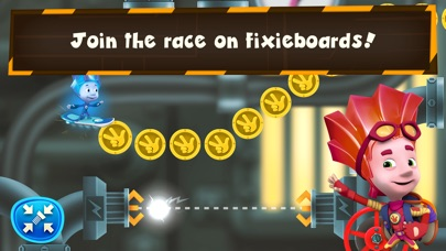 Fixie Surfer endless runner, racing games for kids App 截图