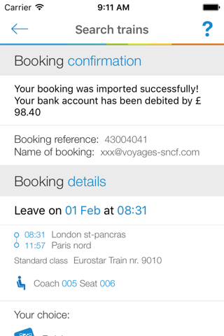 Voyages-sncf UK screenshot 1