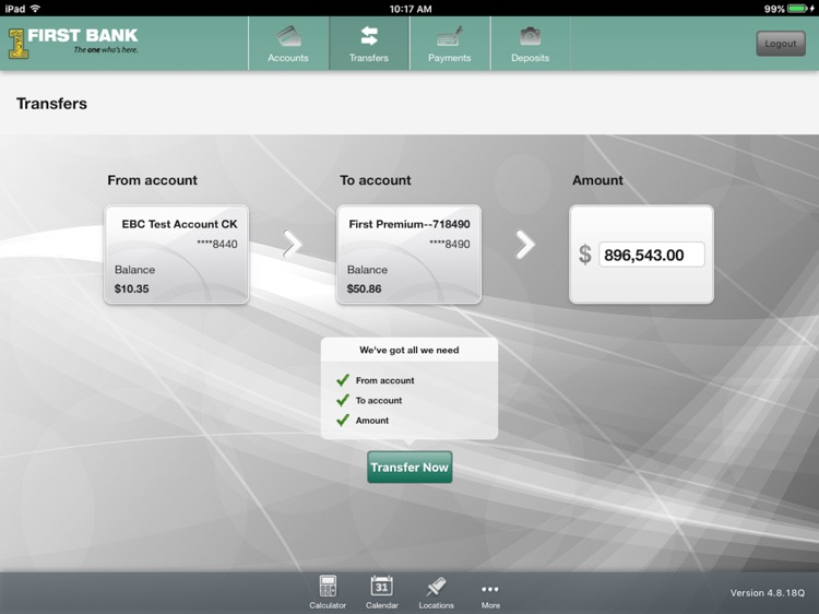 First Bank – Tablet Banking screenshot-3