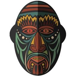 Amazing African Masks Sticker