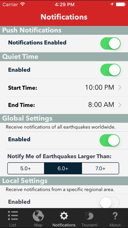 Earthquake Lite - Realtime Tracking App screenshot-3