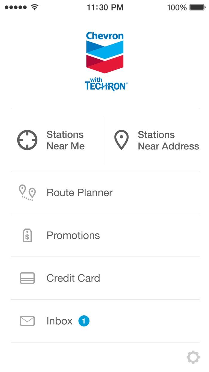 Chevron Station Finder Screenshot