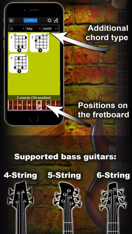 Bass Chords Compass Lite - learn the chord charts screenshot-3