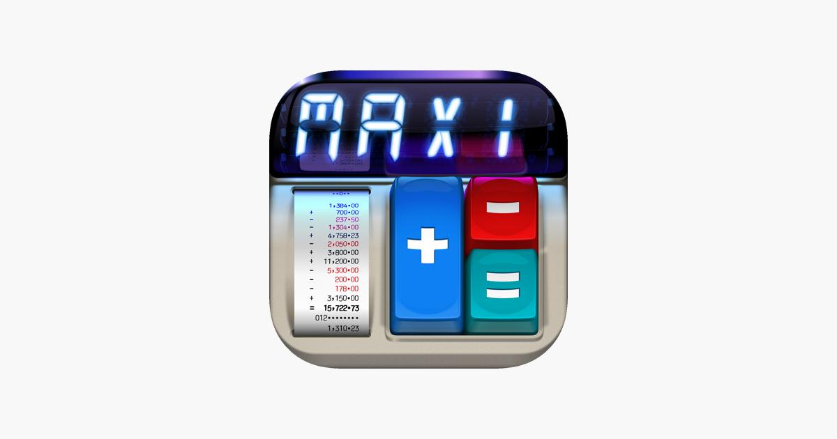 MaxiCalc Pro: druckender Taschenrechner LCD im App Store