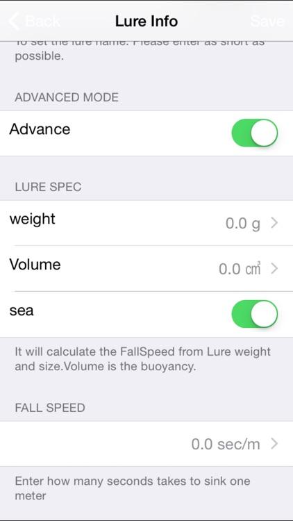 DepthCount - Lure Depth Calculator - screenshot-4