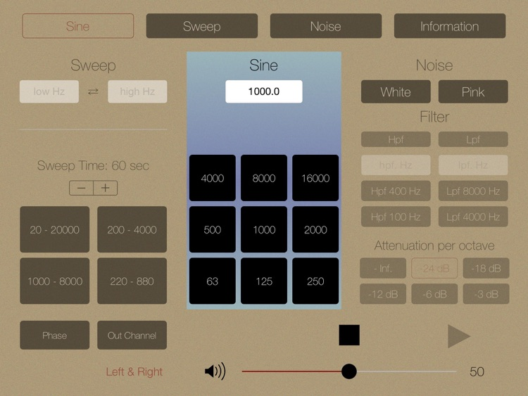 Audio Tone Generator for iPad