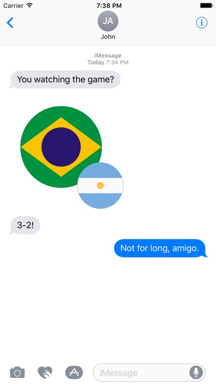 World Flag Stickers for iMessage