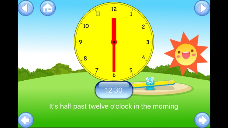 Tell the Time - Baby Learning English Flash Cards screenshot-3