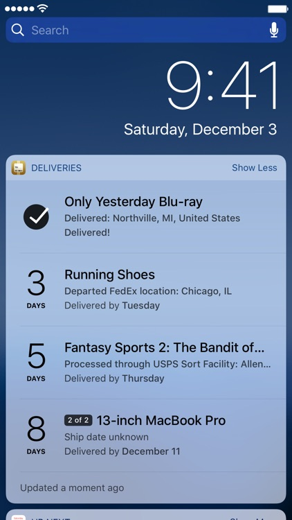 Deliveries: a package tracker