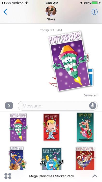 Mega Christmas Sticker Pack screenshot-0