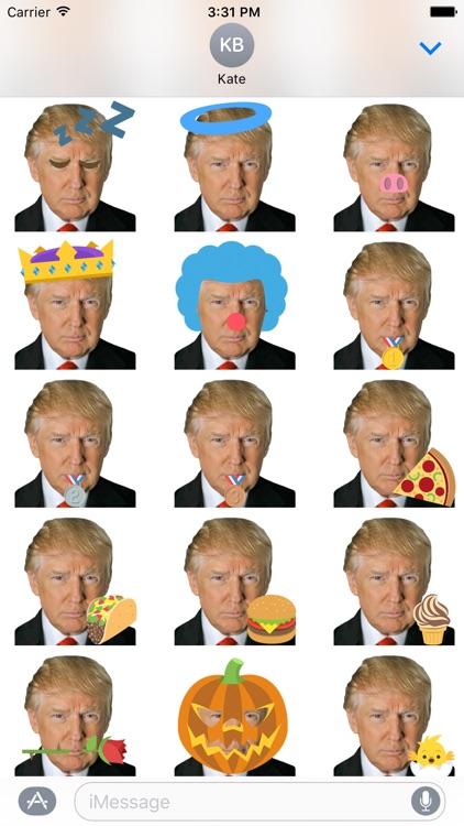 Donald Trump Emoji Sticker Pack screenshot-3