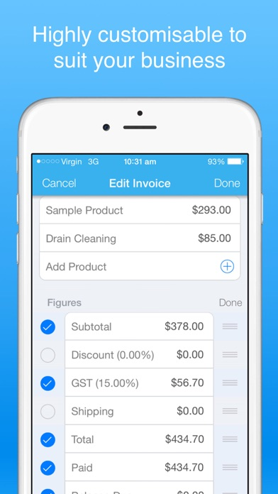 Invoice Maker Pro Create Invoices On The Go Free By B TO J PTY - Invoice maker pro