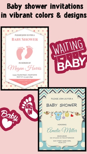 Baby shower invitation cards free on the app store filmwisefo Gallery