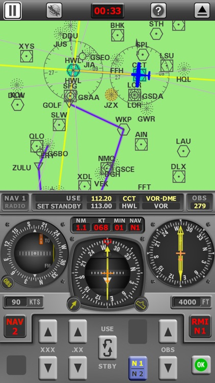 Radio Navigation Simulator - IFR for Pilots screenshot-4