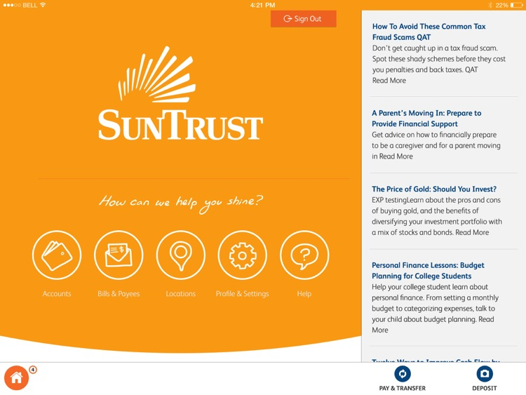 SunTrust Tablet App screenshot-0