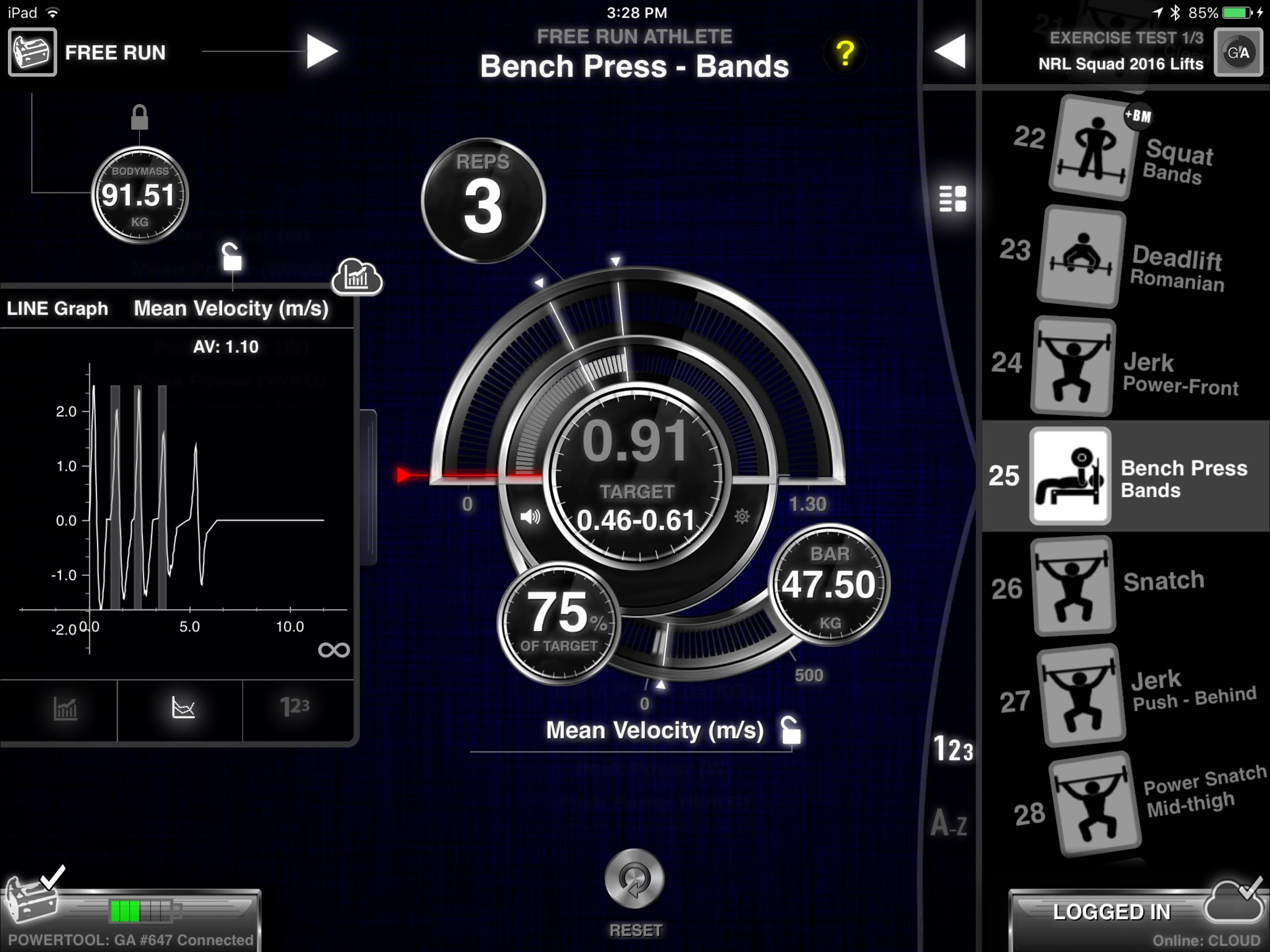 GymAware Screenshot