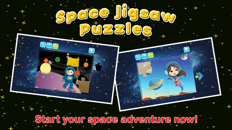 Space Jigsaw Puzzles Games for Kids and Toddlers