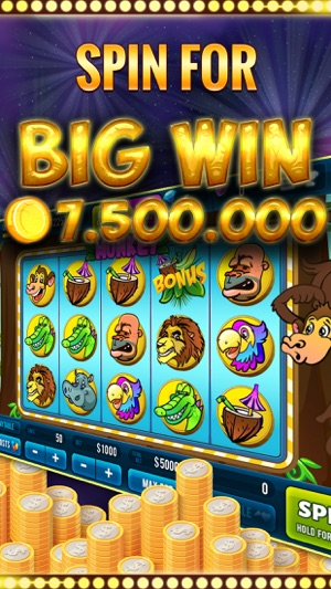 Crazy Monkey Wild Slot Machine Screenshot