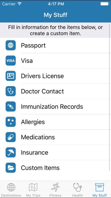 My Travel Health