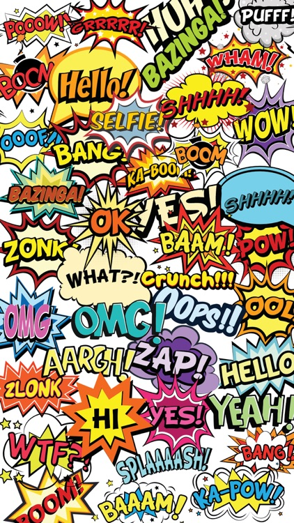 OMG Bazinga Comic Book Speech Bubbles Stickers