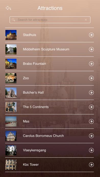 Antwerp Tourist Guide screenshot three