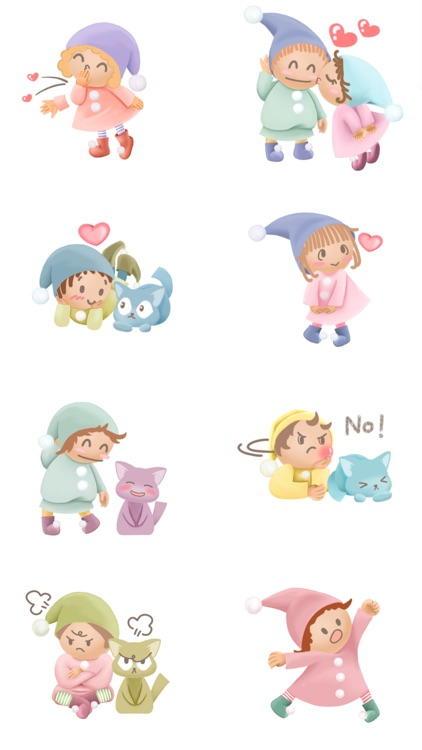 Pommin and the Kitty Gang Stickers for Messages screenshot-1
