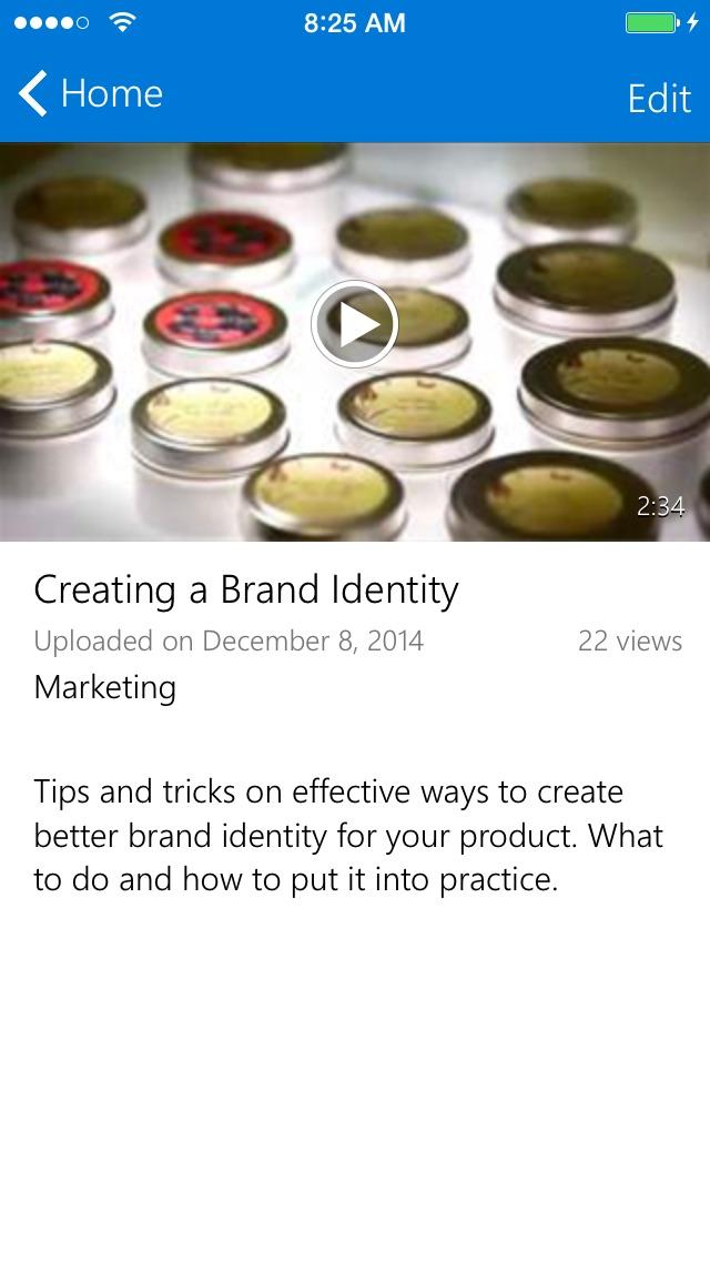Office 365 ビデオ for iPhoneのスクリーンショット4