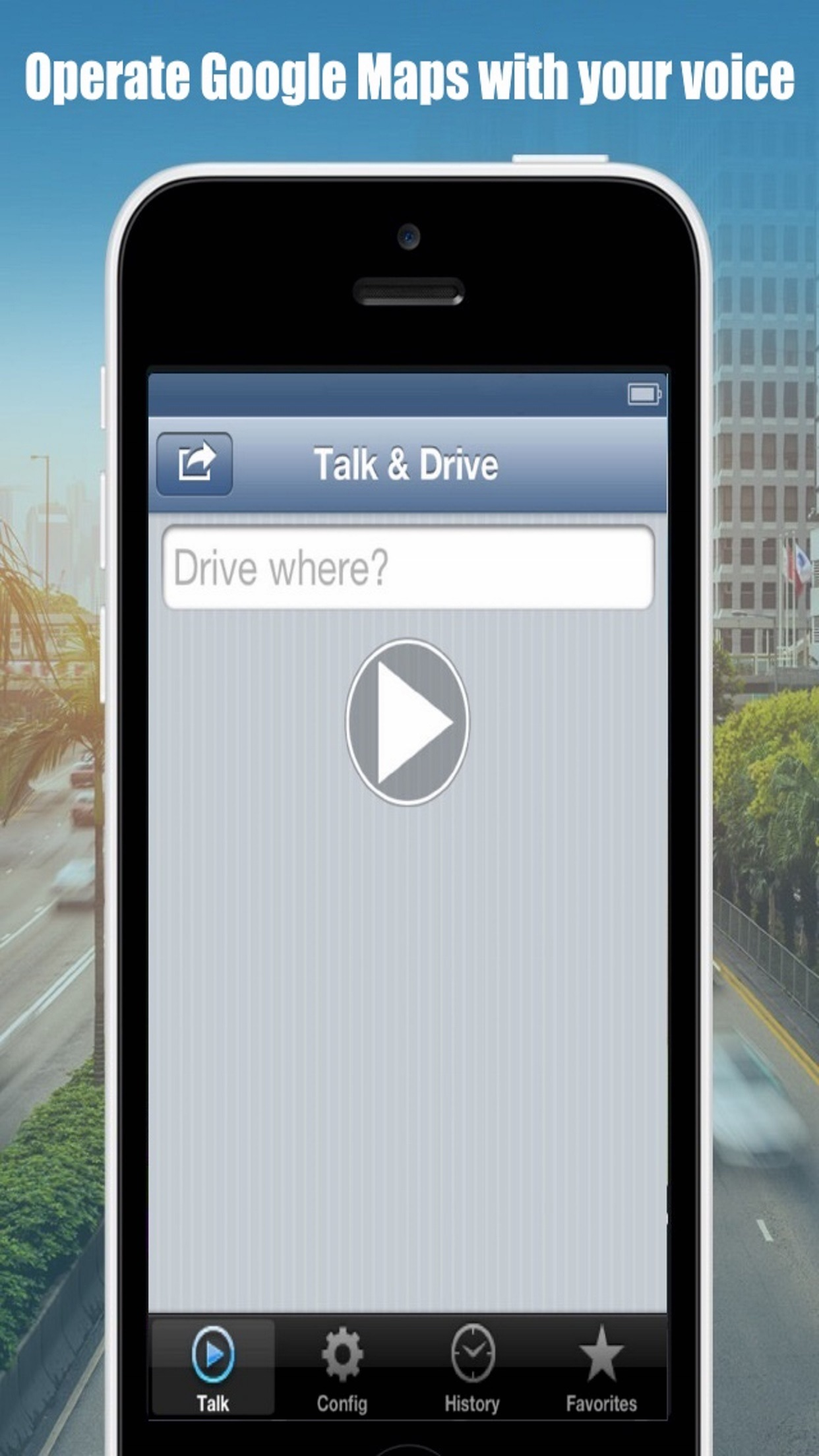 Google Maps Talk And Drive Screenshot