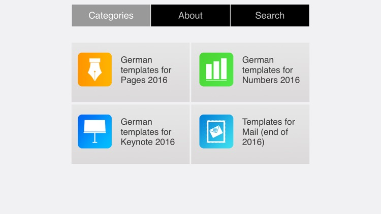 German Templates for iWork 2016
