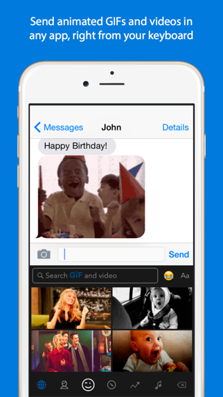 Screenshot for GIF Keyboard in Thailand App Store