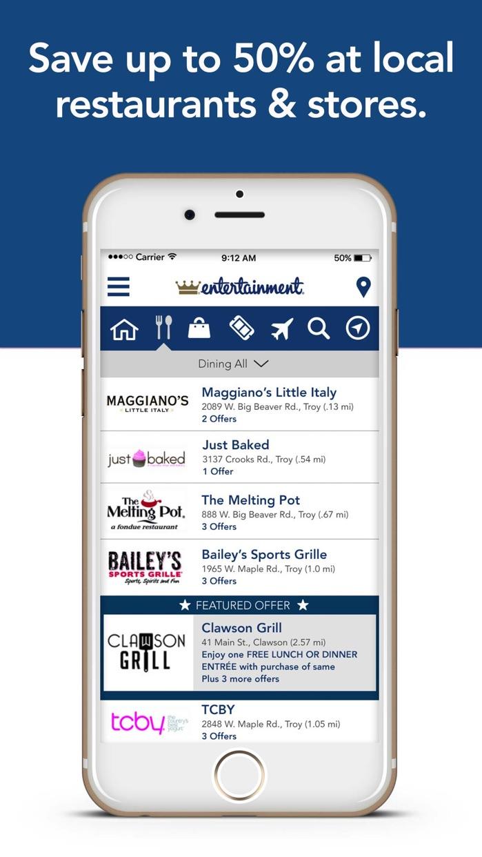 Entertainment Coupons Screenshot