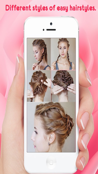 Hairstyle Steps For Girls screenshot one