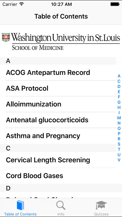WUSM OBGYN Guide screenshot-0