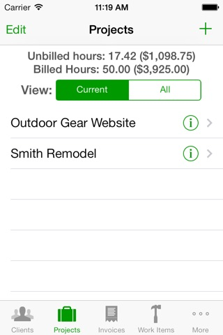 Screenshot of Timewerks: Mobile Billing Lite