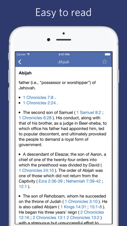 Bible Dictionary - Easton