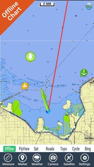 Lake Okeechobee Florida HD GPS fishing chart