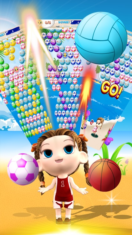 Bubble Shooter Beach Sports Girl screenshot-3