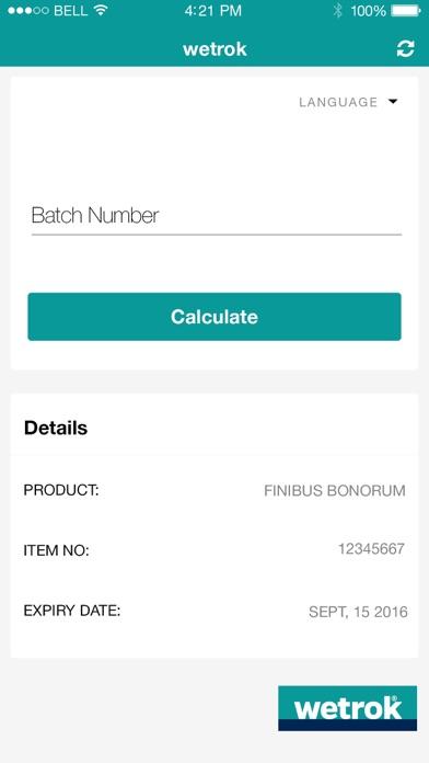 Wetrok Expiry Date Calculator screenshot three
