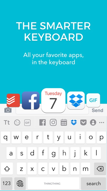 Thingthing Keyboard: Connected, Unified, Private.