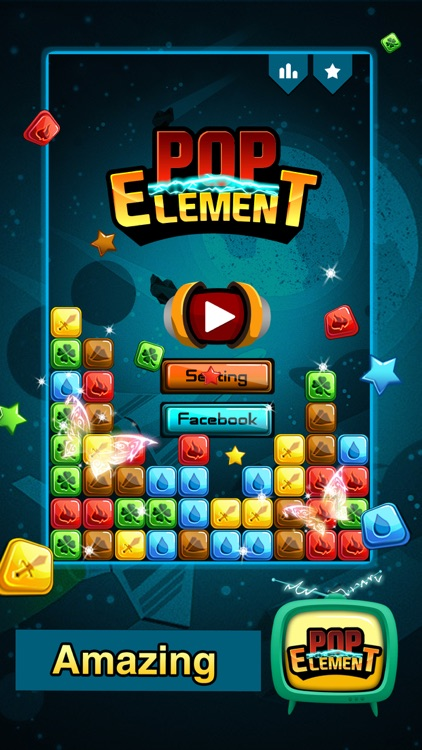 Popstar Element - Pop the stars for puzzle lovers