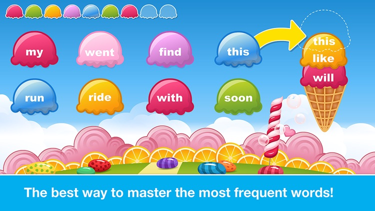 Sight Words Games in Candy Land - Reading for kids