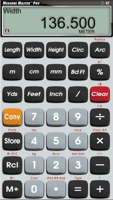 Measure Master Pro Feet Inch Fraction Calculator app image