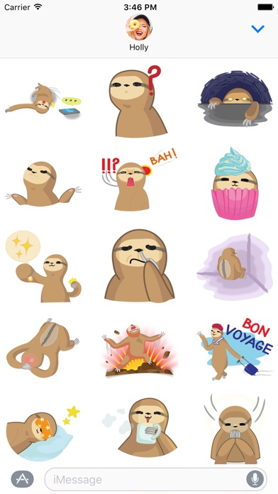 Andy the Sloth - Lazy Stickers-2
