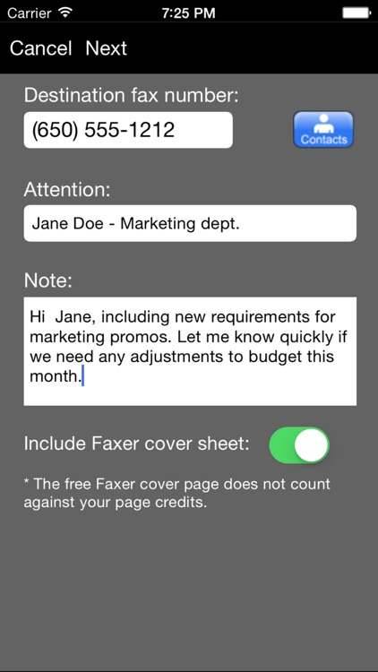 Faxer™ (a US800.com service) screenshot-1