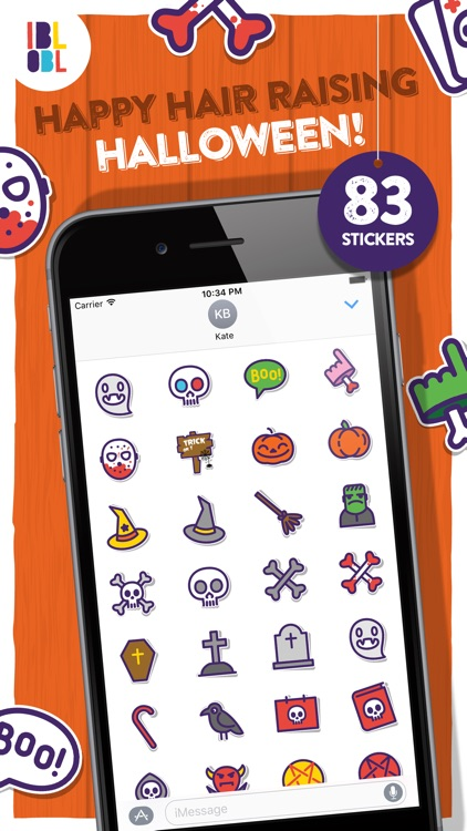 Ibbleobble Halloween Stickers for iMessage